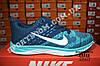 Кроссовки Nike Flyknit Lunar Blue Синие женские реплика, фото 2