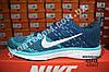 Кроссовки Nike Flyknit Lunar Blue Синие женские реплика, фото 3