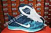 Кроссовки Nike Flyknit Lunar Blue Синие женские реплика, фото 5