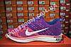 Кроссовки Nike Flyknit Lunar Violet Pink Фиолетовые женские реплика, фото 5