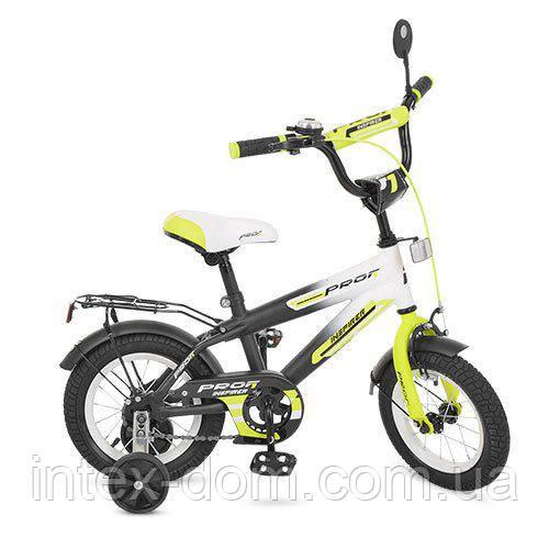 """Двухколесный велосипед Profi Inspirer 12"""" Салатовый (G1254)"""