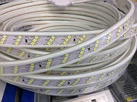 Светодиодная лента Biom 2835-180 220В IP68 холодный белый, герметичная, 1м
