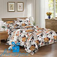 Полуторный комплект постельного белья из сатина РЫЖИК (150*220)