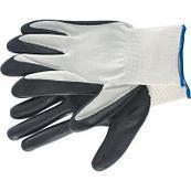 Перчатки нейлоновые с нитриловым покрытием серые.  размер 12.