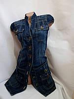 Платье Джинс плотный