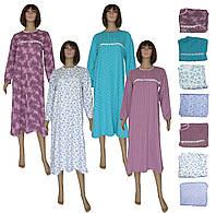 Ночная рубашка женская длинная теплая 03271 Пуговка, р.р.46-64, фото 1