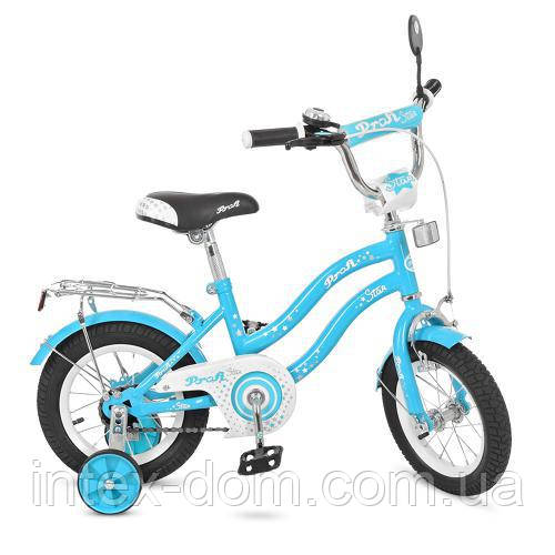 """Двухколесный велосипед Profi Star 12"""" Голубой (L1294)"""