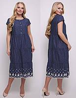 Длинное платьеженское больших размеров макси летнее легкое повседневное батистовое