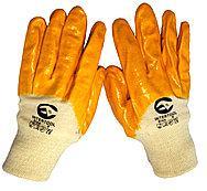 Перчатки рабочие на трикотажной основе с нитриловым покрытием.  размер 8