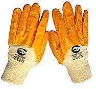 Перчатки рабочие на трикотажной основе с нитриловым покрытием.  размер 9
