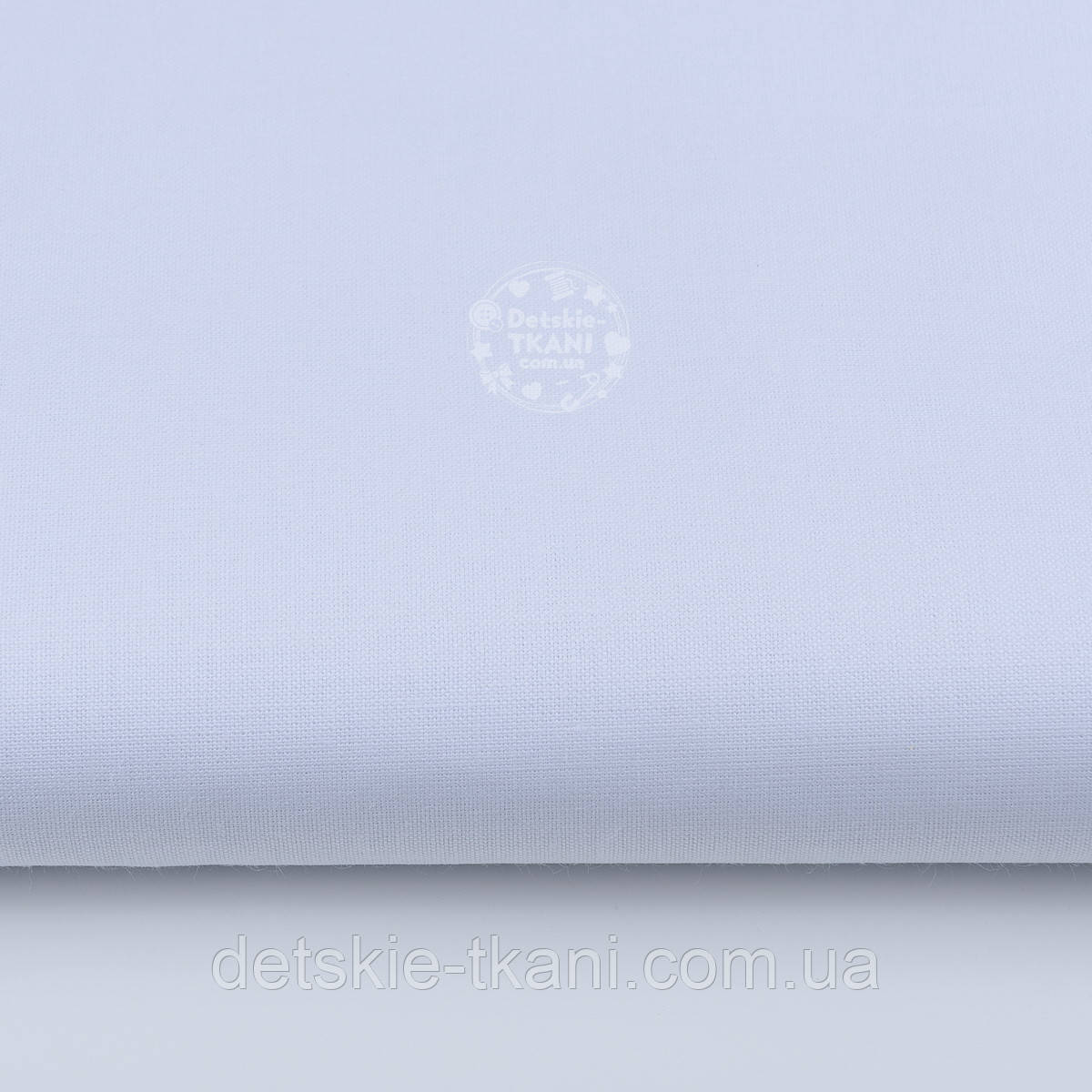 Однотонная польская бязь белого цвета, плотность 125 г/кв.м. (№28а).