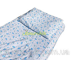 Постельный набор в детскую кроватку байковый (3 предмета), Овечки