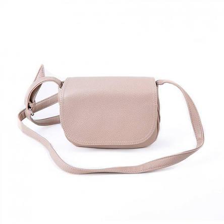 Женская бежевая стильная сумка через плечо М55-66, фото 2