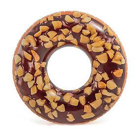 Круг надувной Пончик Шоколадный 114 см Intex 56262
