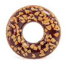 Круг надувной Пончик Шоколад с орехами Intex 56262