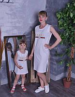 """Платье - майка с принтом """"GUCCI"""" """"Family look""""- мама и дочка, в расцветках (МО-27-0418)"""