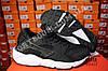 Кроссовки Nike Air Huarache Black White Черные женские, фото 2