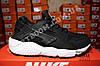 Кроссовки Nike Air Huarache Black White Черные мужские, фото 4