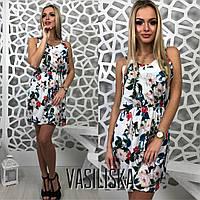 e050b4a4504 Женское красивое легкое летнее платье с цветочным принтом (6 цветов)