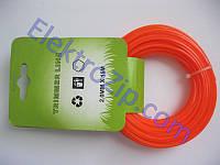 Леска d2.0, 15м, оранжевая (для триммера)