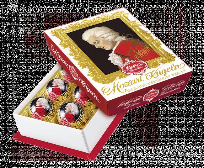 Цукерки Reber 120г Моцарт Кульки темний шоколад