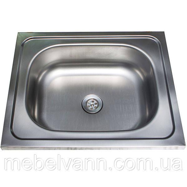 Кухонная Мойка накладная Ua 50Х50 Polish 0.4 мм, фото 1