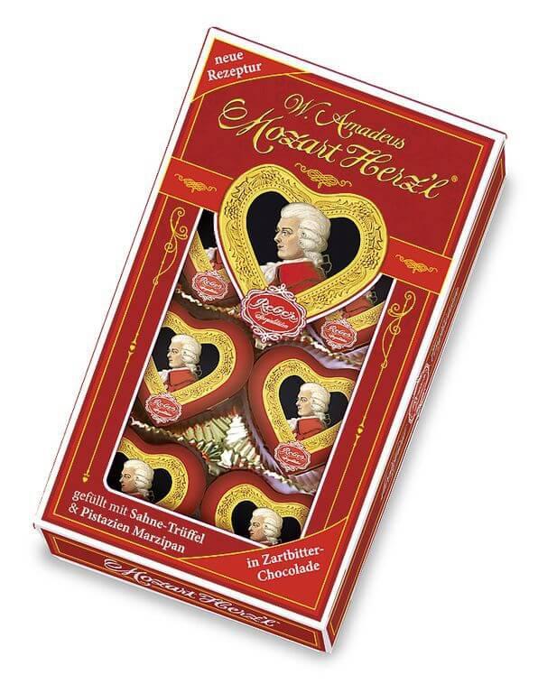 Цукерки Reber 80г Моцарт Сердечка шоколодні