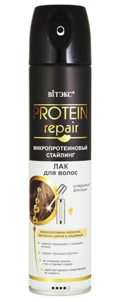 Лак для волос суперсильной фиксации Витэкс Protein Repair