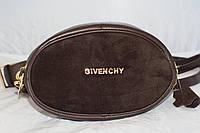Поясная женская сумка-бананка Givenchy, шоколад (коричневый), фото 1