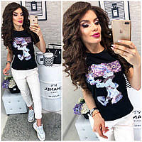 """Модная женская футболка """"Кролик Банни"""""""