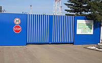 Распашные ворота Alutech ADS400 2000x2200 заполнение профилем роликовой прокатки AG/77, фото 1