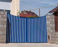 Распашные ворота Alutech ADS400 2000x1800 сплошное заполнение алюминиевым профилем