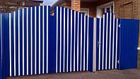 Распашные ворота Alutech ADS400 4000x1800 сплошное заполнение алюминиевым профилем, фото 1