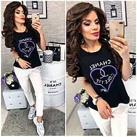 d7864beed35f Женская футболка шанель оптом в Украине. Сравнить цены, купить ...