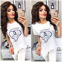 Популярная женская футболка в стиле Шанель