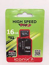 Карта памяти MicroSDHC Iconix 16 GB 10 Class