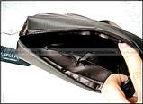 Темно коричневая водостойкая мужская сумка через плечо Polo Vicuna V8805, Оксфорд, для планшета, фото 3
