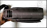 Темно коричневая водостойкая мужская сумка через плечо Polo Vicuna V8805, Оксфорд, для планшета, фото 5