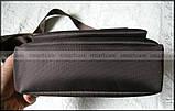 Темно коричневая водостойкая мужская сумка через плечо Polo Vicuna V8805, Оксфорд, для планшета, фото 7