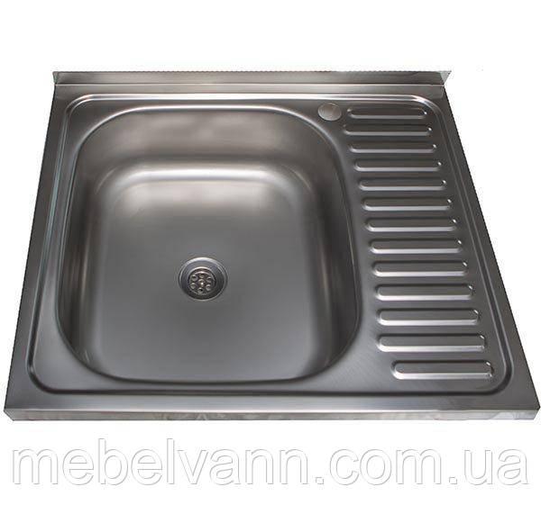 Кухонная Мойка накладная Ua 60Х50 Polish 0.5 мм