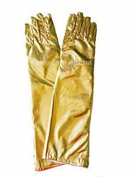 Перчатки женские вечерние, карнавальные золотистые