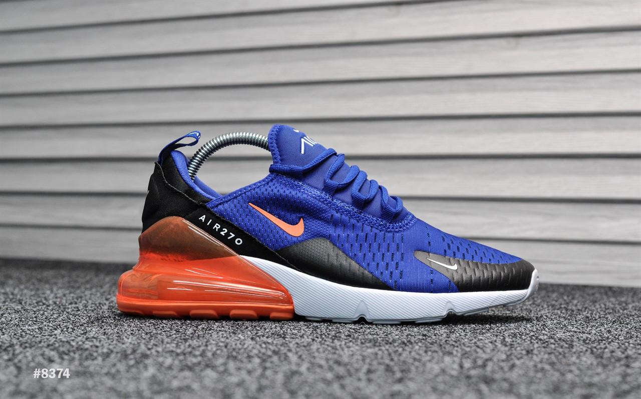 Nike Air Max 270 Blue Orange ТОП Качество! (Реплика)