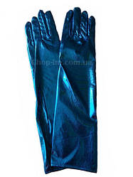 Перчатки женские вечерние, карнавальные, цвет электриктрик