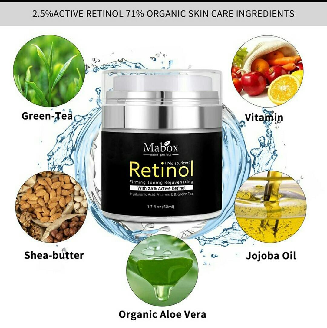 Антивозрастной крем для лица с Активным Ретинолом 2,5% Retinol Mabox (Ретинол)