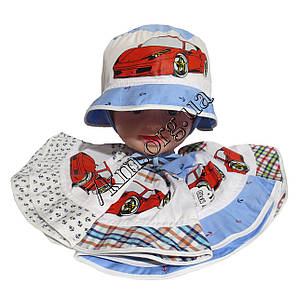 """Панама детская для мальчиков хлопок 2-4 года """"Машина"""" Польша Оптом 7398"""