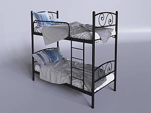 Двох'ярусне ліжко Тенеро Віола 800х1900 мм металева чорна