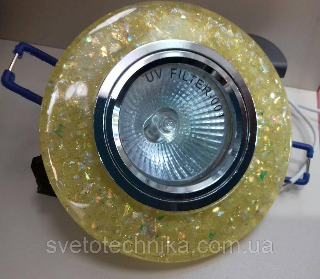 Встраиваемый светильник Feron 8585 MR16 с LED подсветкой.