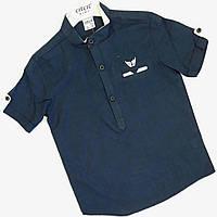 Рубашка на мальчика, 6-10 лет, темно синий