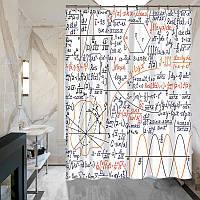 Шторка для душа ванной Математика Формулы и Графики, фото 1