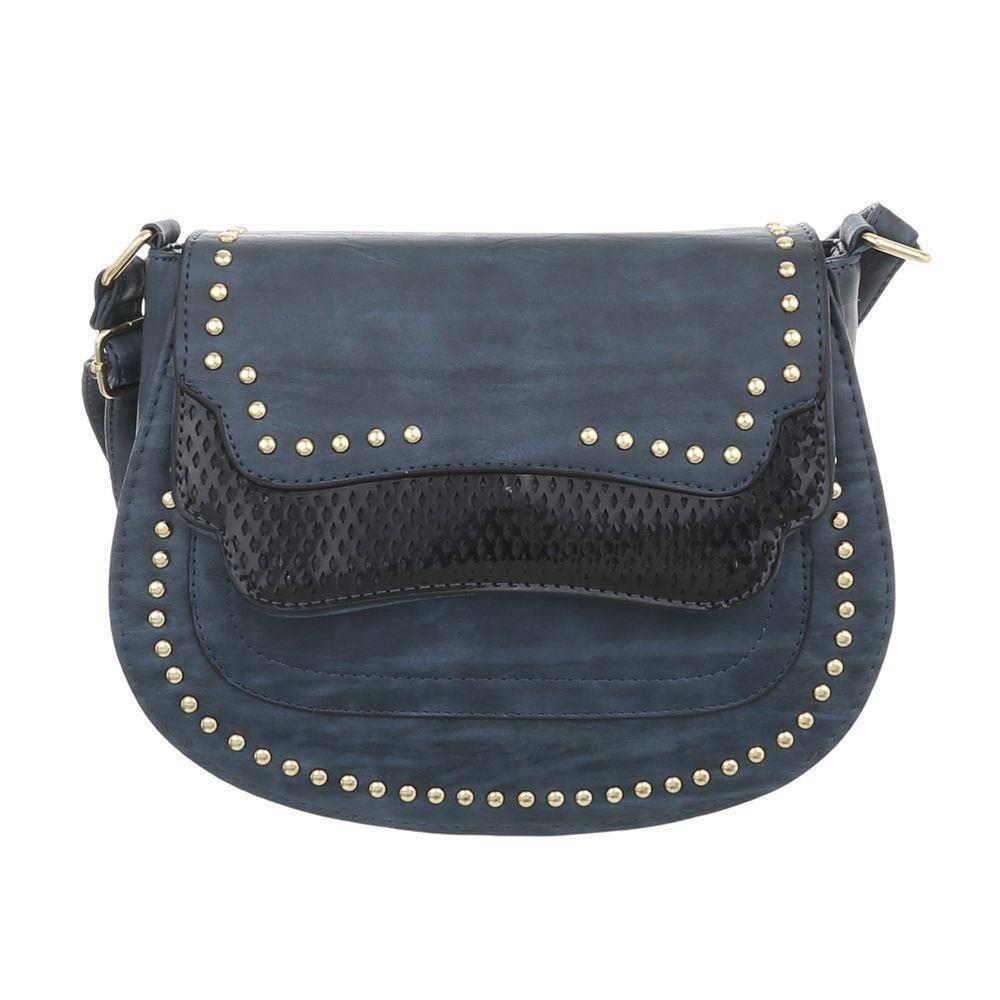 Женская сумка седло с заклепками (Европа), Синий